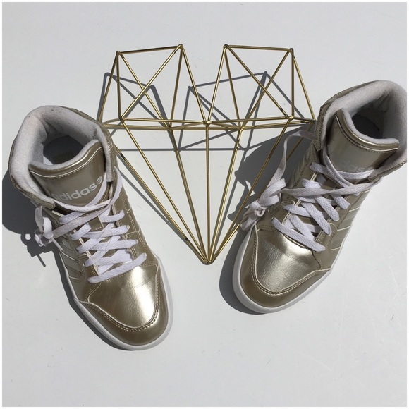 best service 941cf 3a349 adidas Shoes - adidas Champagne Gold Neo High Tops